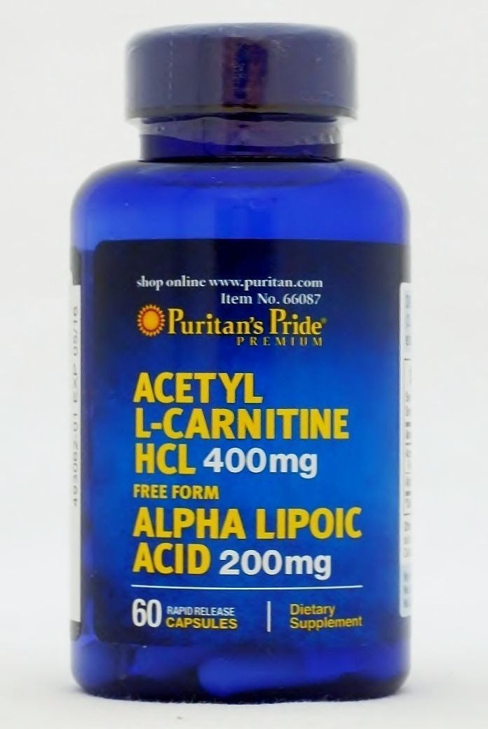 アセチルL-カルニチン400 mg.・アルファリポ酸(αリポ酸)200 mg・60錠