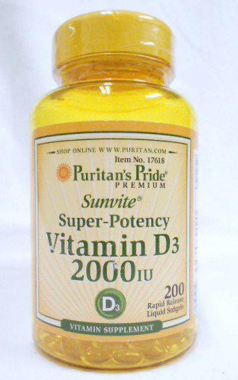 ビタミンD3-2000IU200錠!骨の問題問題と肝臓や腎臓の活性化に!
