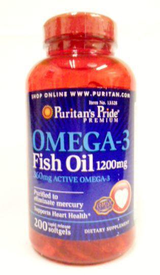 オメガ3(DHA&EPA)!OMEGA-3・1200mg200錠!心臓と関節に!