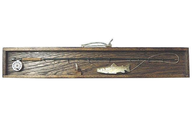 壁に飾れば 気分は渓流!ミニチュア フライロッド&岩魚