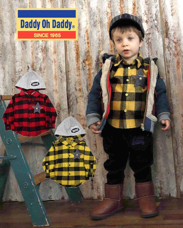 Daddy Oh Daddy / ダディオーダディ フード付きバッファローチェック柄シャツ