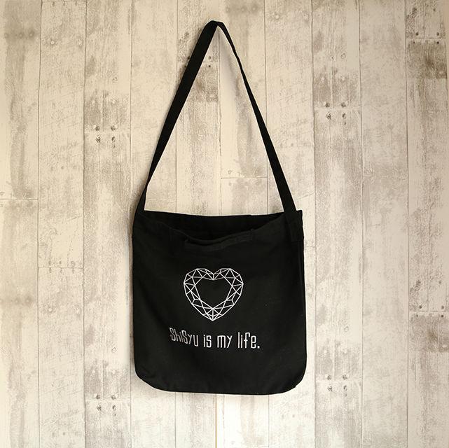2Way Shoulder Tote Bag / 【Heart】SHISYU-JAPAN・2Wayトートショルダーバッグ・メンズ・レディース・ユニセックス