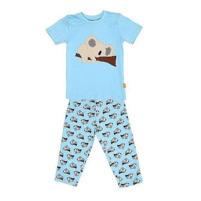 子供用 パジャマ 上下セット コアラ ブルー 100%オーガニックコットン GOTS認定