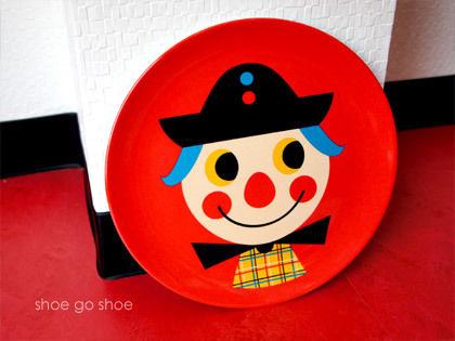 北欧雑貨 メラミンプレート 「 Clown  (ピエロ)」