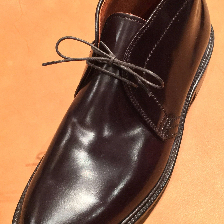 オールデン チャッカブーツ 靴紐 2穴用におすすめです