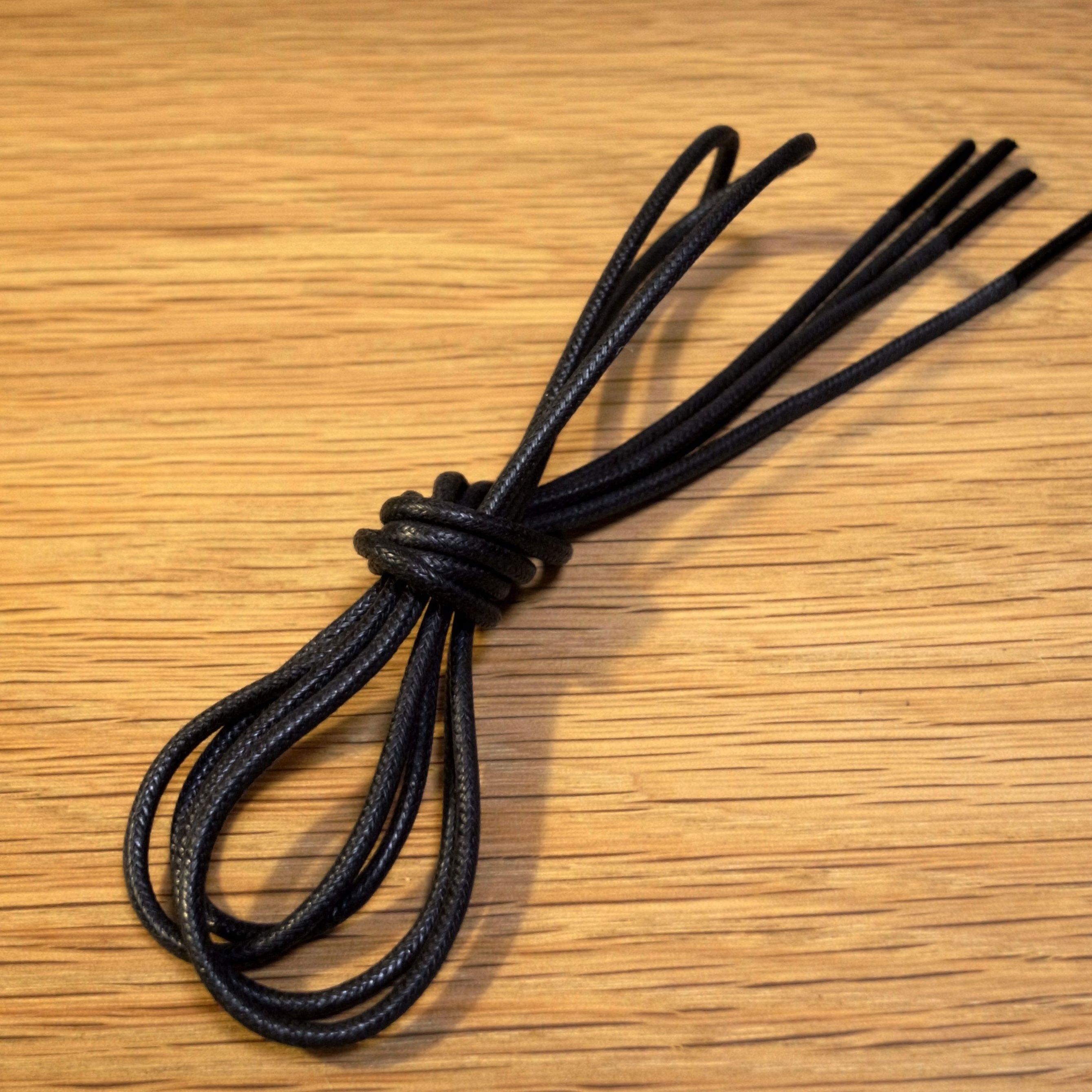 黒/丸紐/ロウ引き/レギュラー