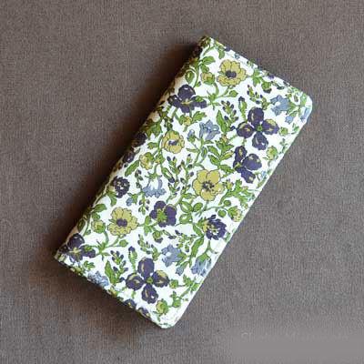 iPhone6/6sケース・手帳型:リバティ・メドゥ(グリーン)おしゃれ かわいい