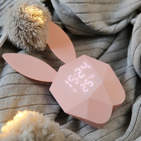 かわいい ウサギ ナイトライト 目覚まし時計