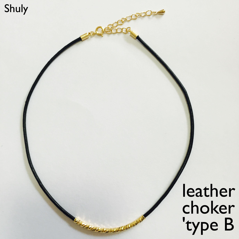 leather choker 'type B