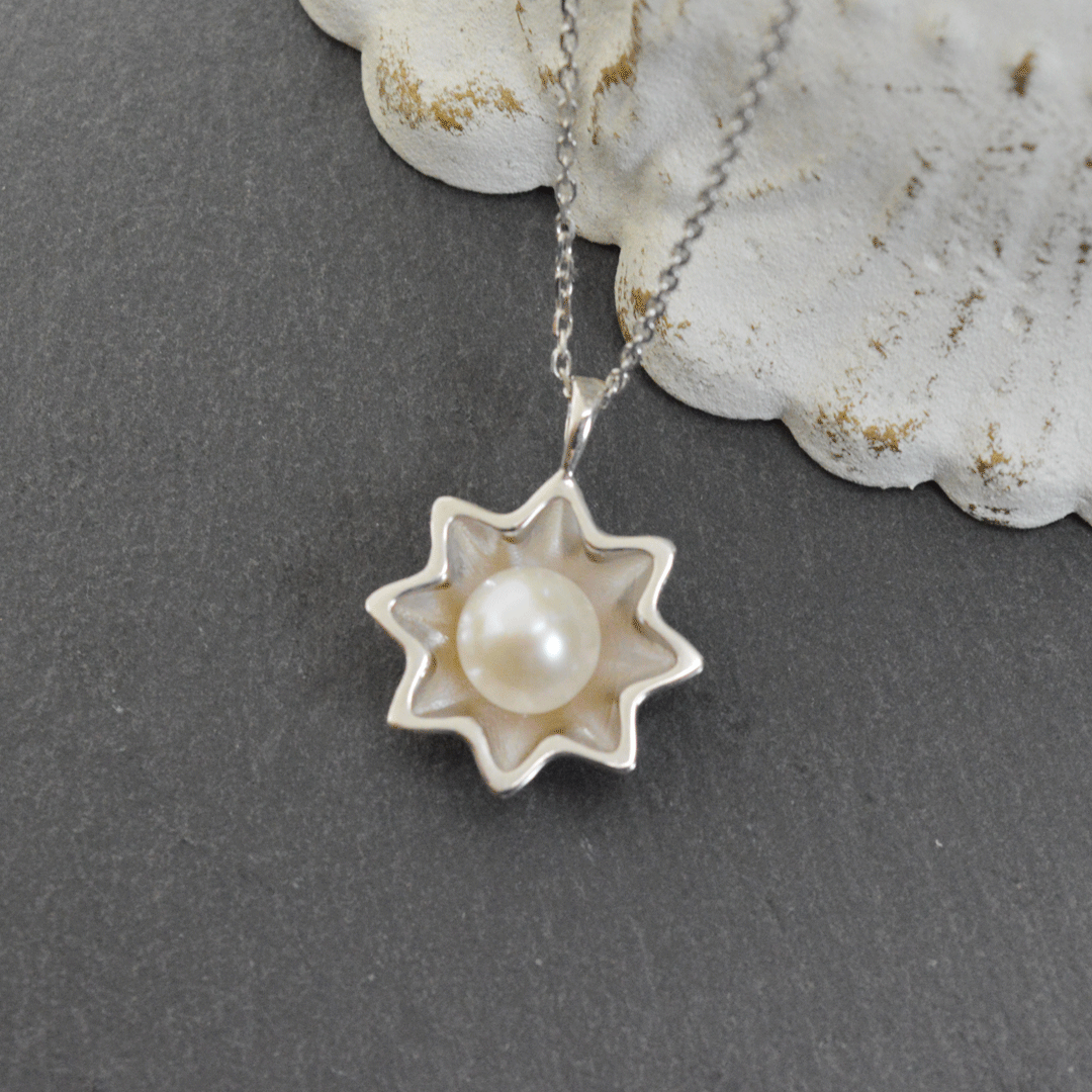 Star pearl necklace/silver925/