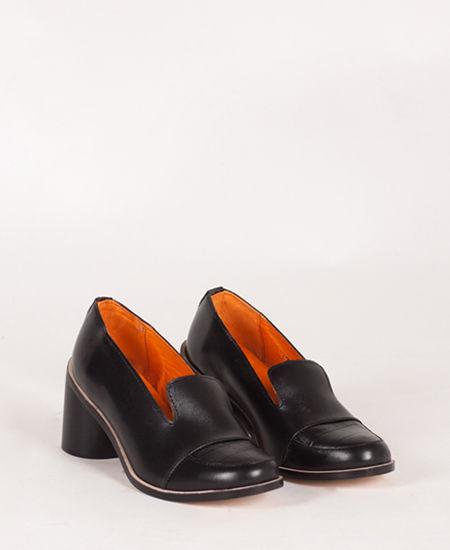 Deux Souliers - Loafer Heel #2 Black チャンキーヒール・ローファー (ブラック)【スペイン】【靴】【シューズ】【インポート】【VOGUE】