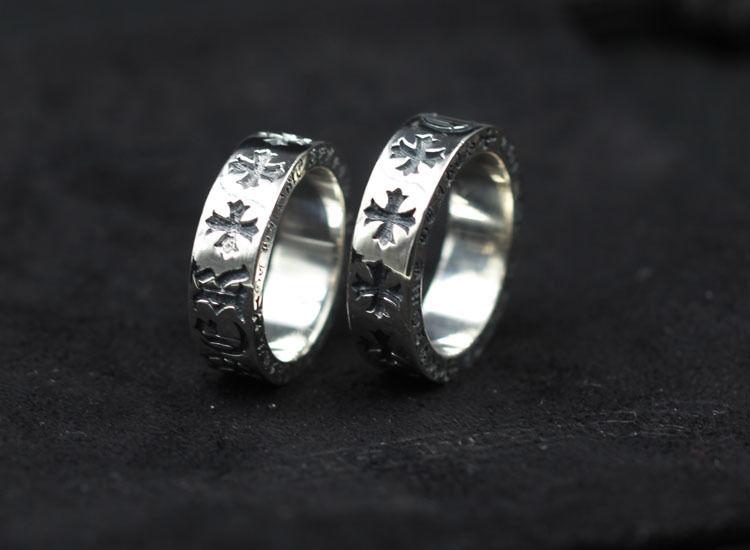 人気勧め美品 CHROME HEARTS クロムハーツ 指輪 シルバーリング 綺麗な刻印 男女兼可