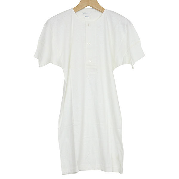 Dead Stock デッドストック 70S MADE IN ENGLAND インターロック ヘンリーネックシャツ WHITE