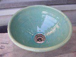 ブルーガラス(小)手洗い鉢