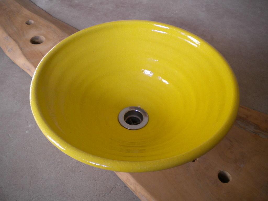 レモンイエロー(中)手洗い鉢 31㎝