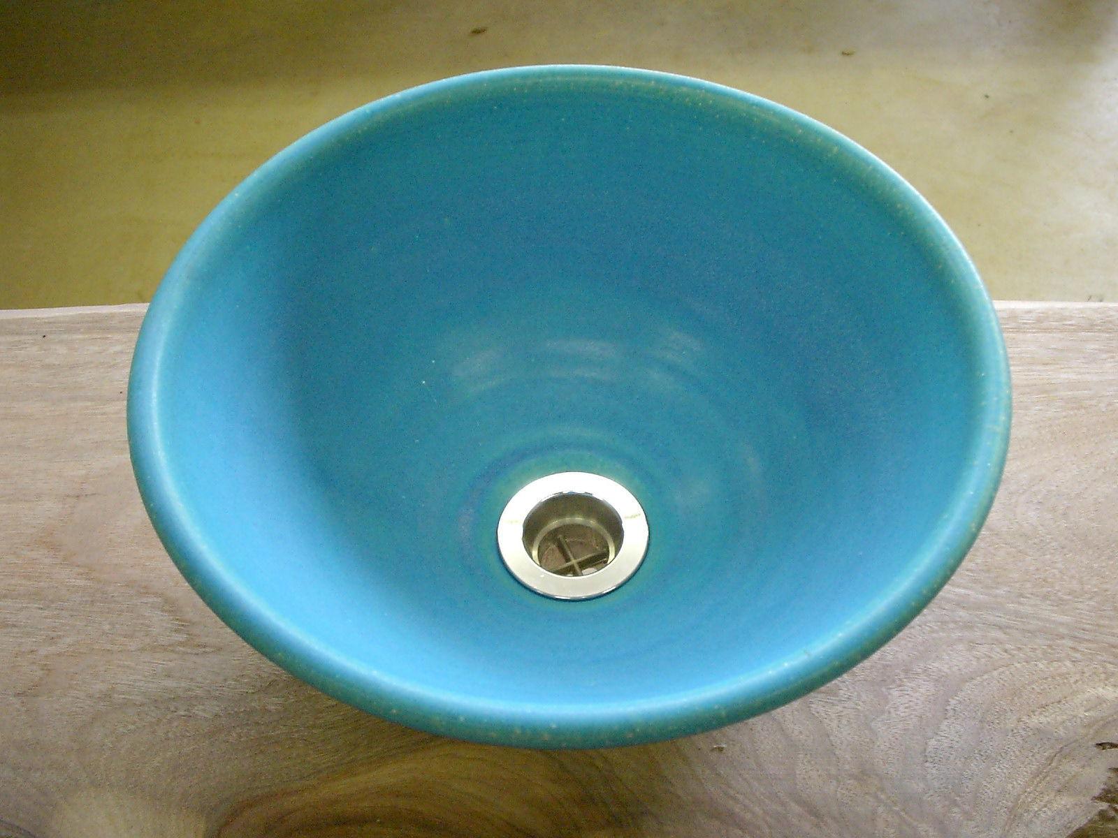 トルコブルー(小)手洗い鉢