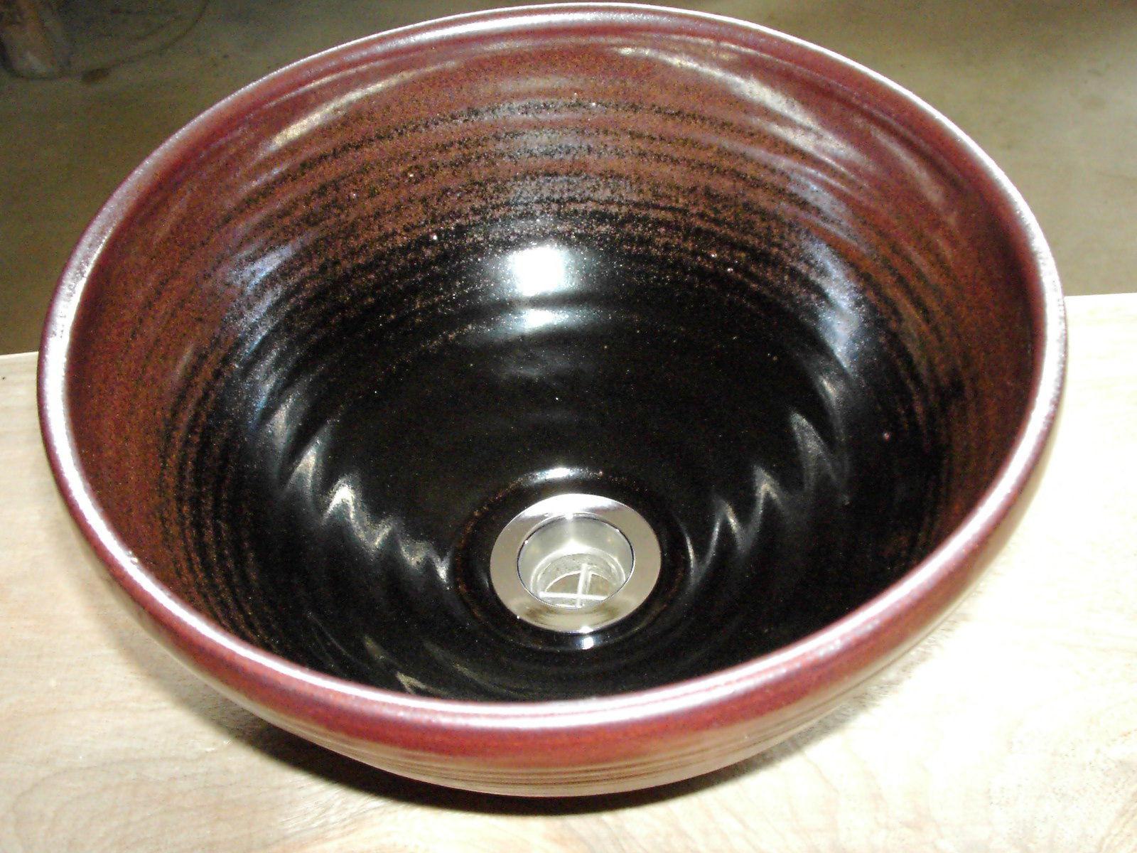黒天目(小)手洗い鉢