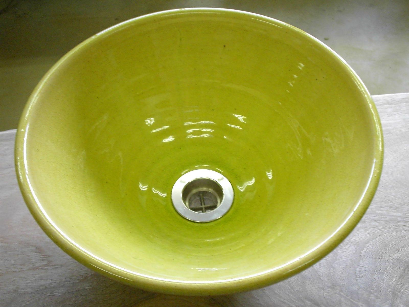イエローガラス(小)手洗い鉢
