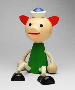 チェコおすわり人形 ブタカラ― MIVA
