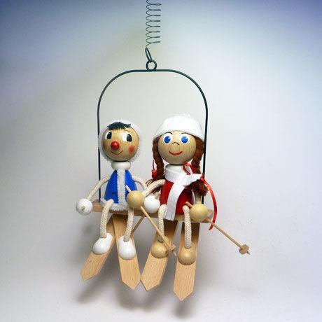 チェコおすわり人形 スキーペア・ブランコセット ABAfactory
