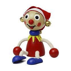 チェコの木製おすわり人形 ジョーカー