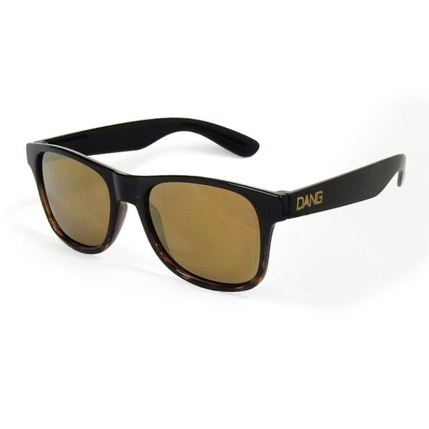 【DANG SHADES】LOCO Black / Brown Tortoise Gradation Gloss x Bronze Mirror