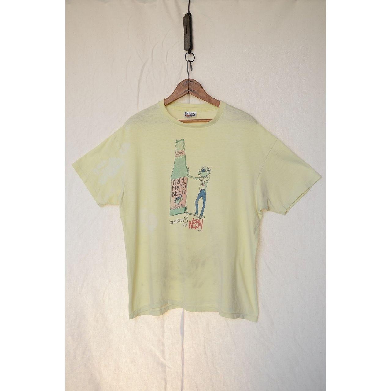 """HANES 80'S """"TREE FROG BEER WEBN"""" Tシャツ"""