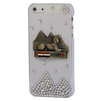 【SS053】3D スフィンクス モチーフ ラインストーン ピラミッド プラスチックiPhone5/5sケース クリア