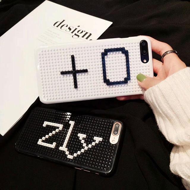[NW421] ★ iPhone 6 / 6s / 6Plus / 6sPlus / 7 / 7Plus / 8 / 8Plus ★ シェルカバー ケース レゴ ブロック オリジナル 自作 DIY
