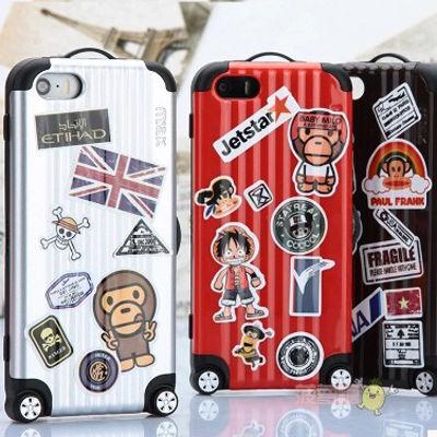 【MT078】iPhone6/6s/iPhone6Plus/6sPlus ビビッドカラー スーツケース風  iPhoneケース ステッカー付 かっこいい おしゃれ ポップ