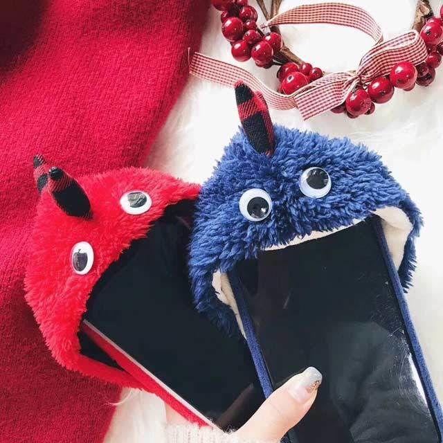 [MD115] ★ iPhone 6 / 6s / 6Plus / 6sPlus / 7 / 7Plus / 8 / 8Plus / X ★ シェルカバー ケース モンスター 着ぐるみ 可愛い