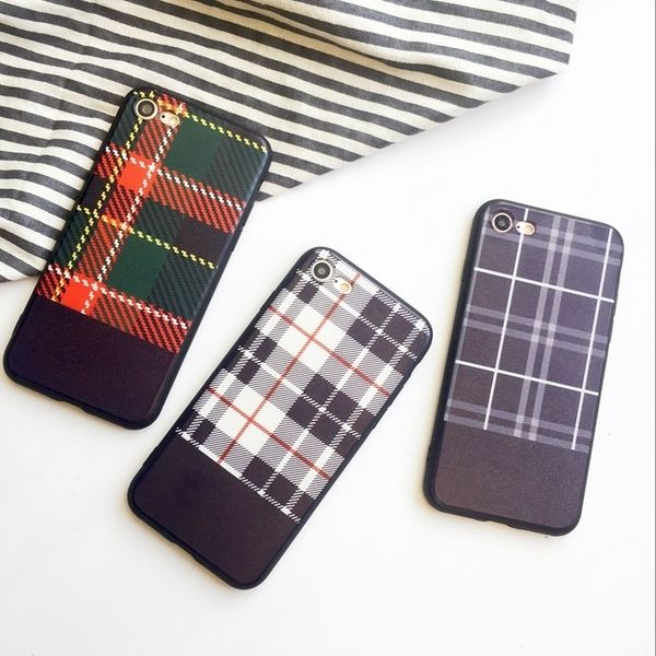 【SI028】★ iPhone 6 / 6s / 6Plus / 6sPlus / 7 / 7Plus ★ シェル型 ケース ( 3パターン ) 英国風 タータン チェック おしゃれ 大人 シンプル