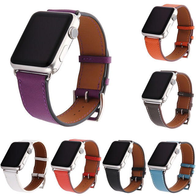 [NW515] ★Apple Watch belt 38mm/42mm ★ シンプル カラー 本革 アップルウォッチ 替えベルト バンド メンズ レディース 男女兼用