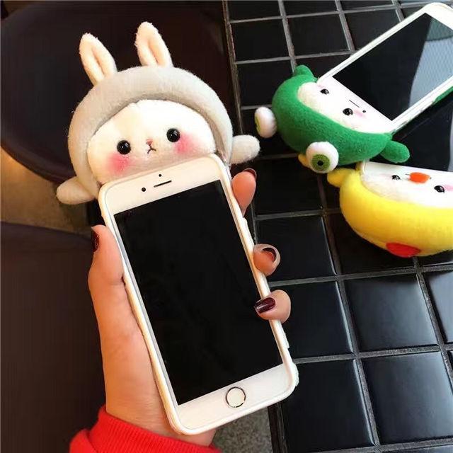 [NW132]★ iPhone 6 / 6s / 6Plus / 6sPlus / 7 / 7Plus / 8 / 8Plus ★ シェルカバー ケース ぬいぐるみ 着ぐるみ アニマル