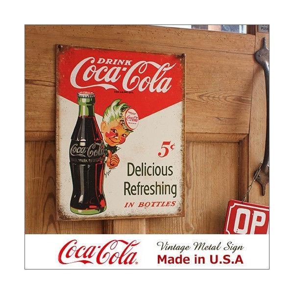 コカ・コーラ Sprite Boy 5cts メタル・サイン ブリキ看板 Made in USA/2168