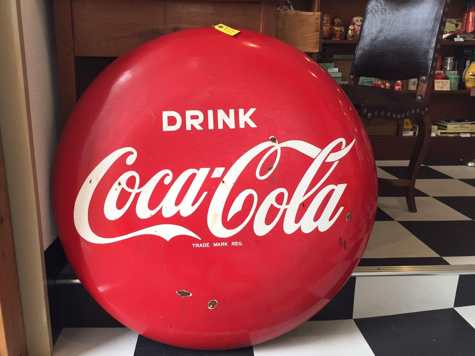ビッグサイズ!コカ・コーラヴィンテージ ホーロー ディスクサインヴィンテージ看板