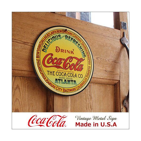 コカ・コーラ Keg Label メタル・サイン ブリキ看板 Made in USA/1070