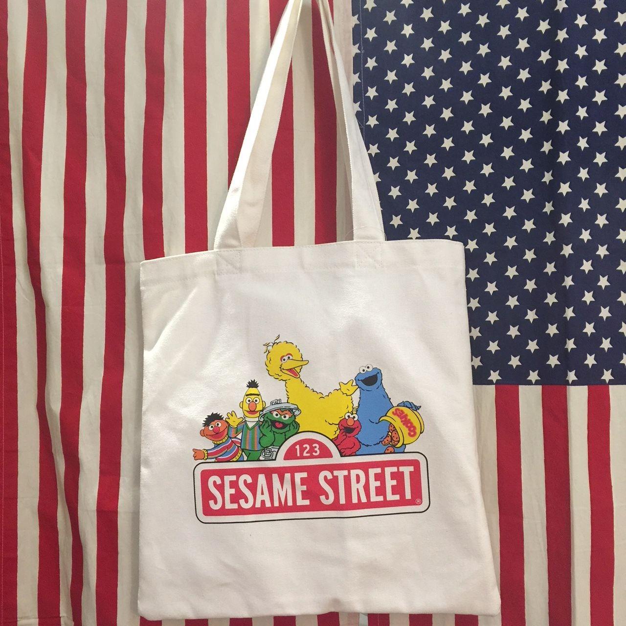 カラートートバッグ セサミストリート ロゴ