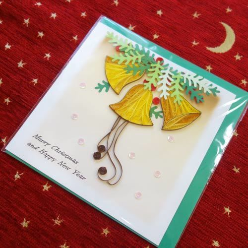 pc30    ★立体的なデザインがかわいい!ベトナムペーパークイリングカード(クリスマス)