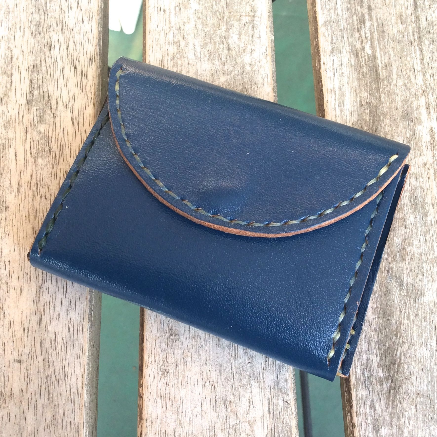 hanaqoota COIN CASE(blue/black/brown)
