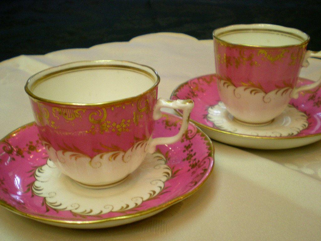 ピンク コーヒーカップ ペア