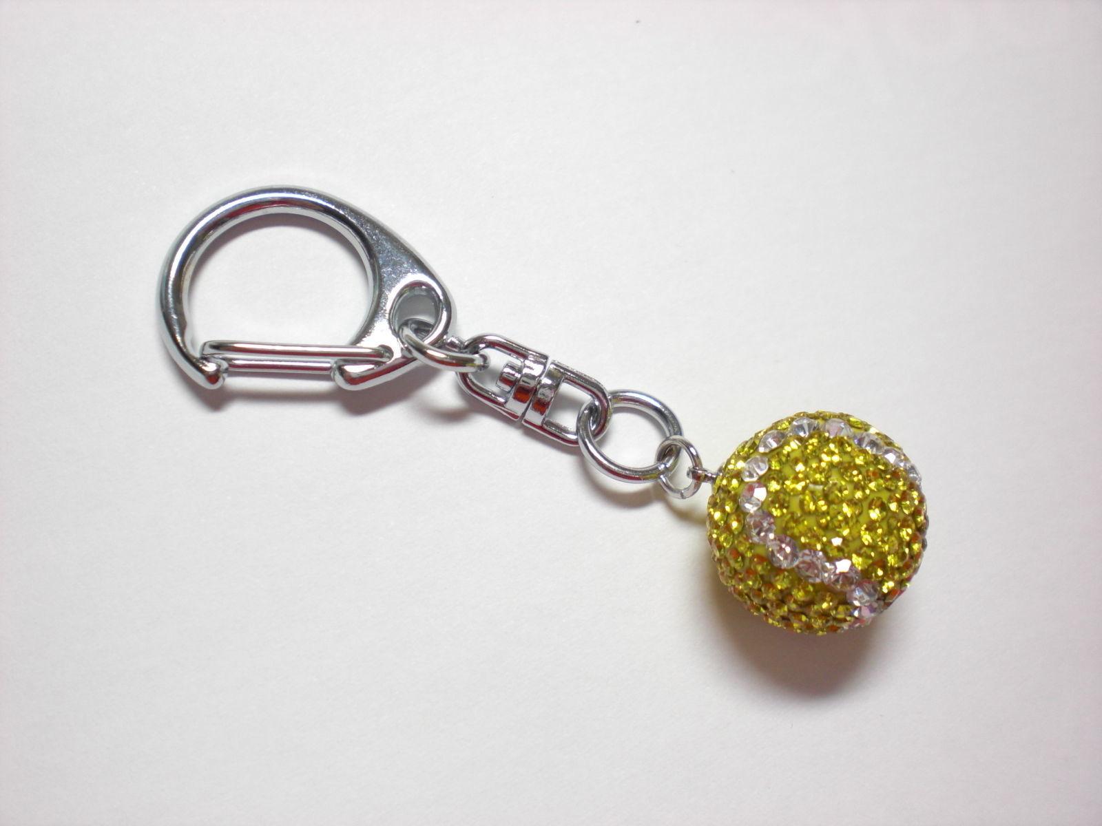 キラキラ テニスボール(S) キーホルダー