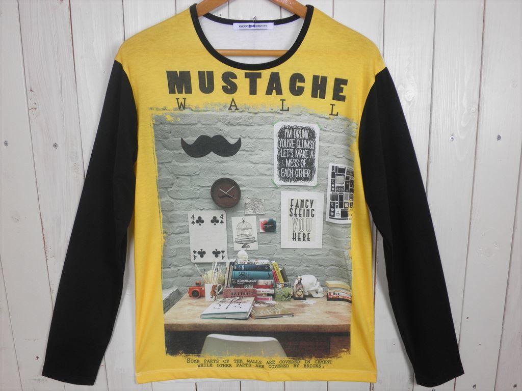 MUSTACHE L/S Tシャツ(サイズ L)