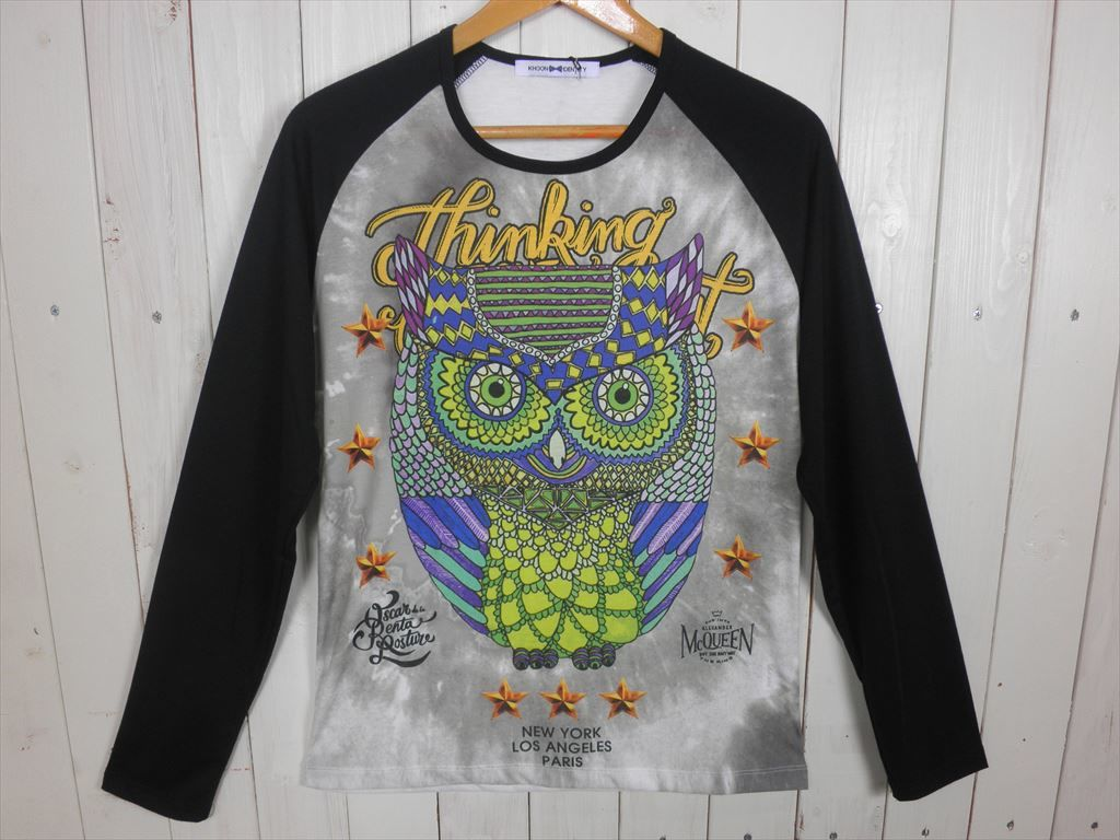 Owl ラグラン L/S Tシャツ(サイズ L)