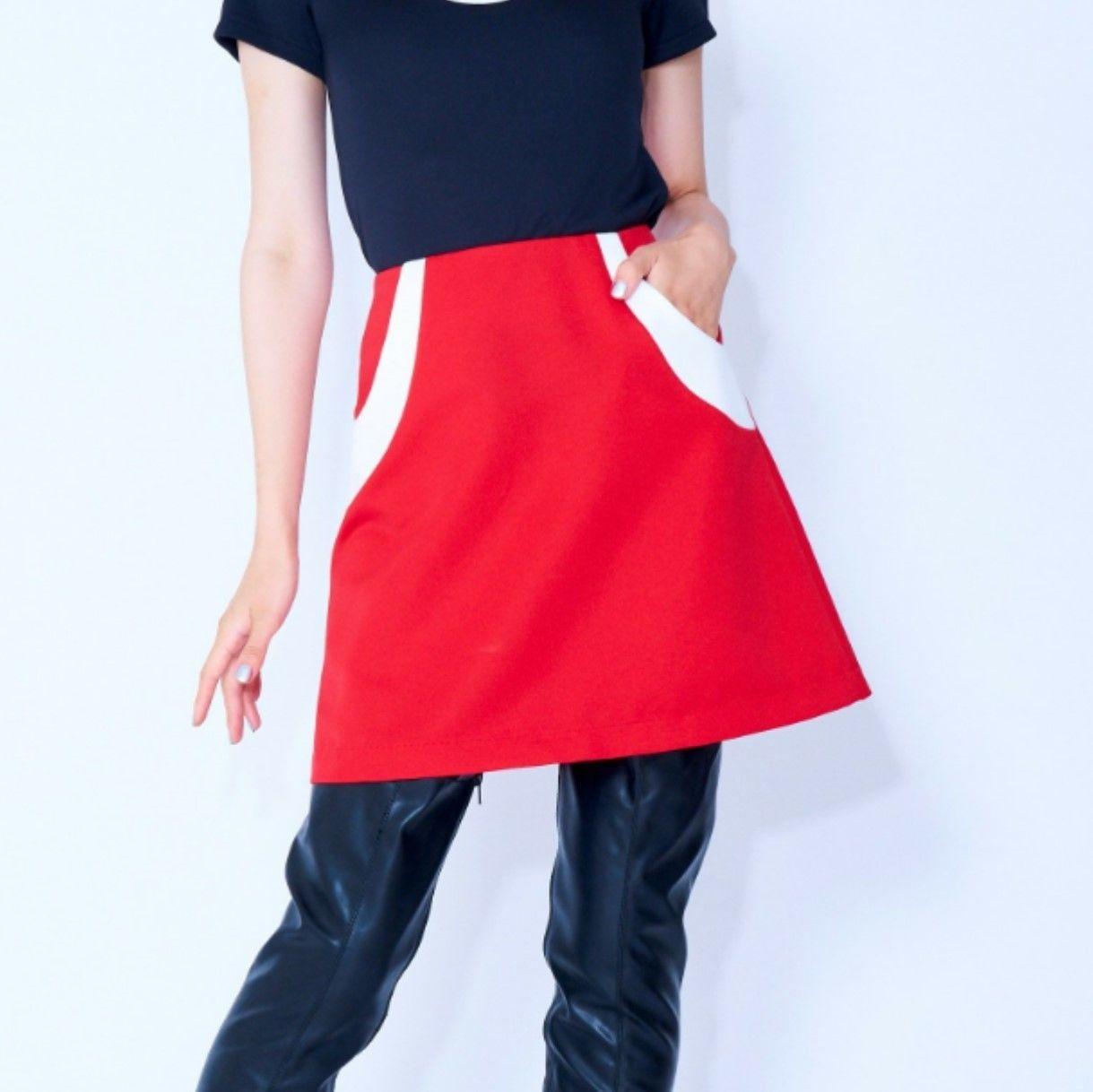 ハーフWHラインスカート