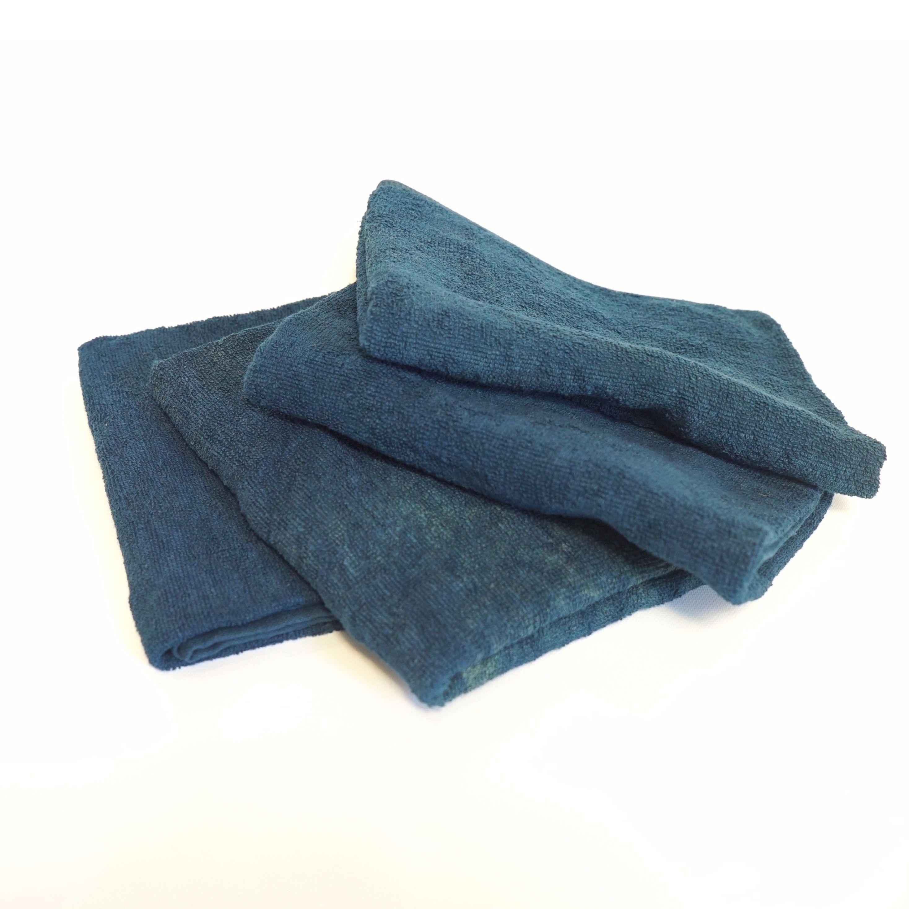 【ギフト】藍染フェイスタオル 4枚《お得セット》