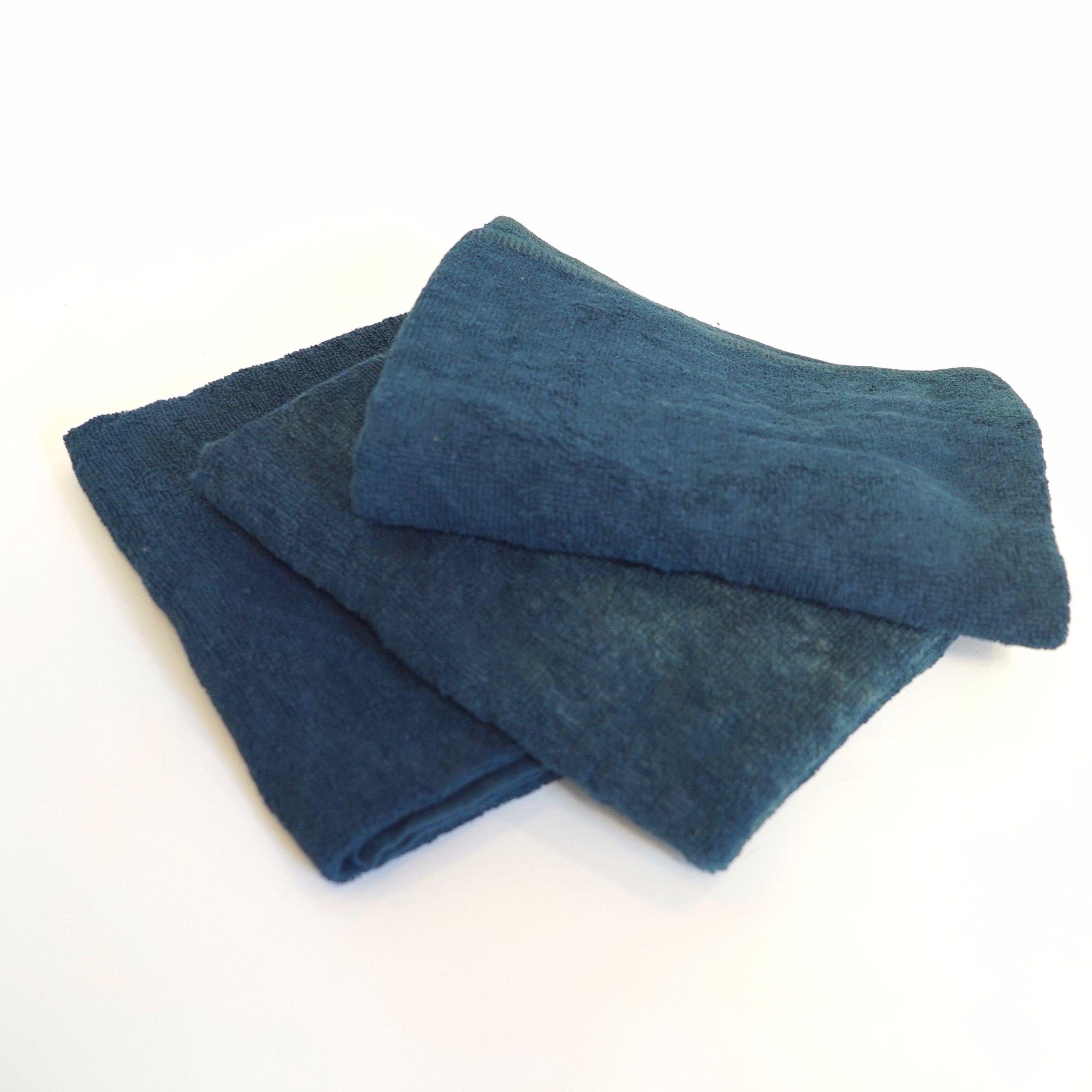 【ギフト】藍染フェイスタオル 3枚《お得セット》