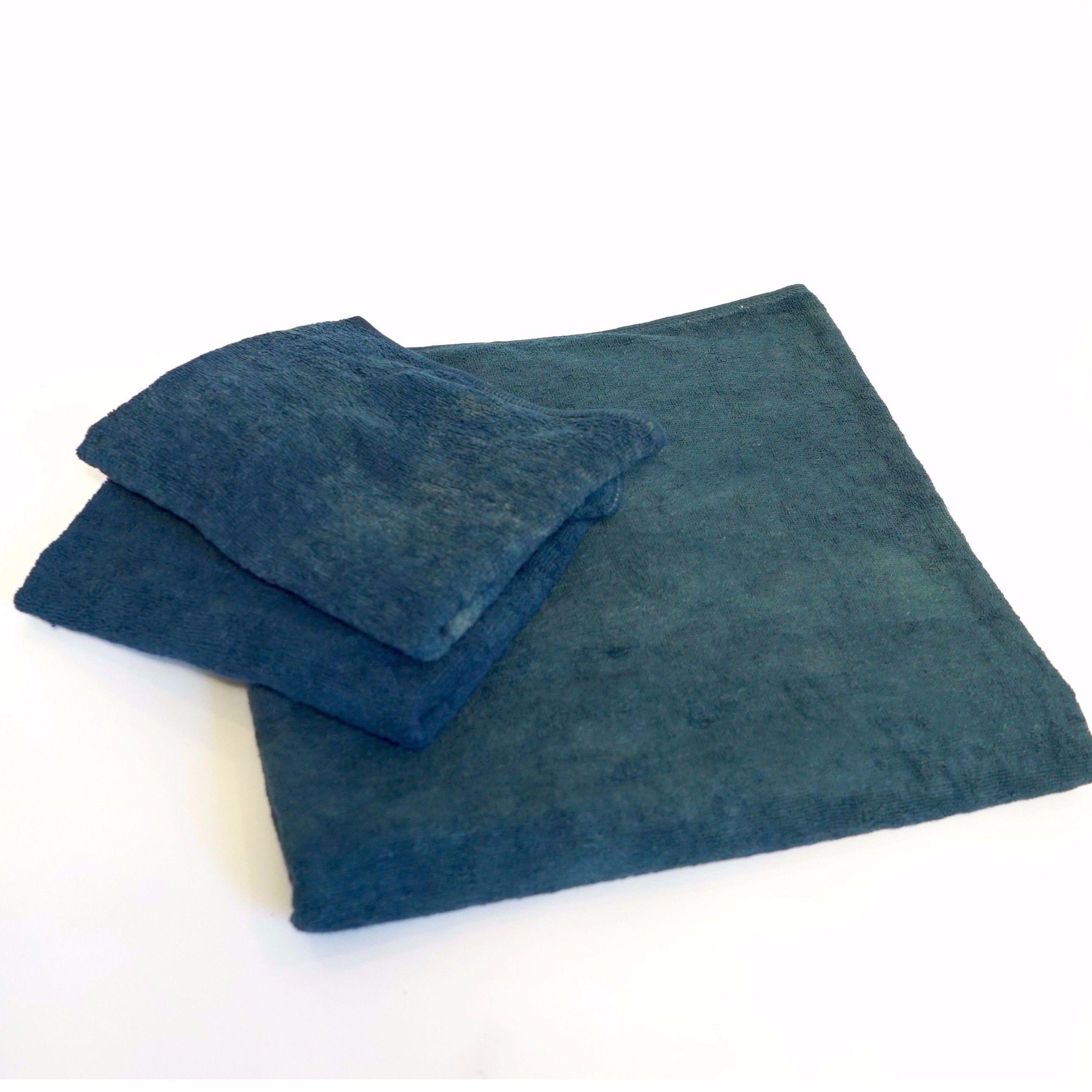 【ギフト】藍染バスタオル&フェイスタオル《お得セット》(バス1枚、フェイス2枚)
