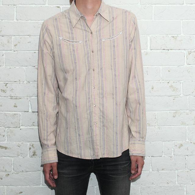 Wrangler Stripe Western L/S Shirt