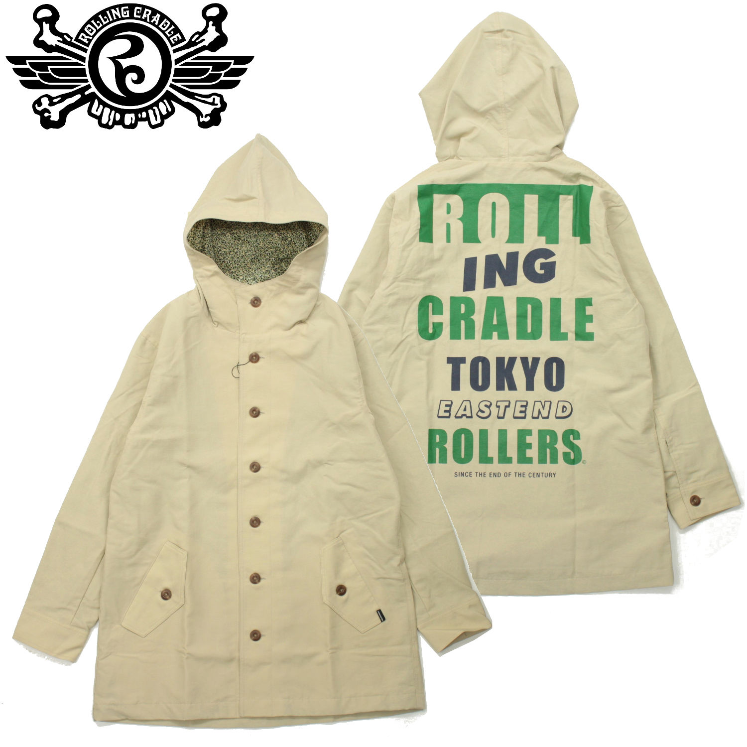 BACK STYLE FOODED COAT / BEIGE